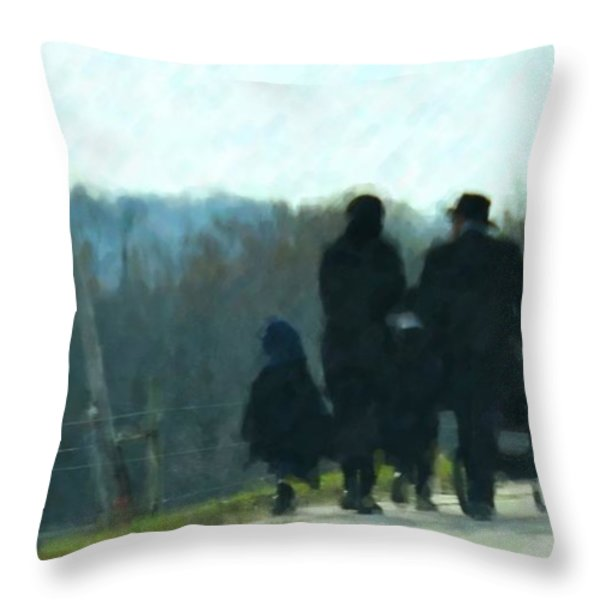 Family Time Throw Pillow by Debbi Granruth