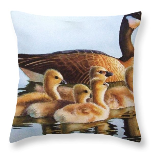 Family Time Throw Pillow by Greg Halom