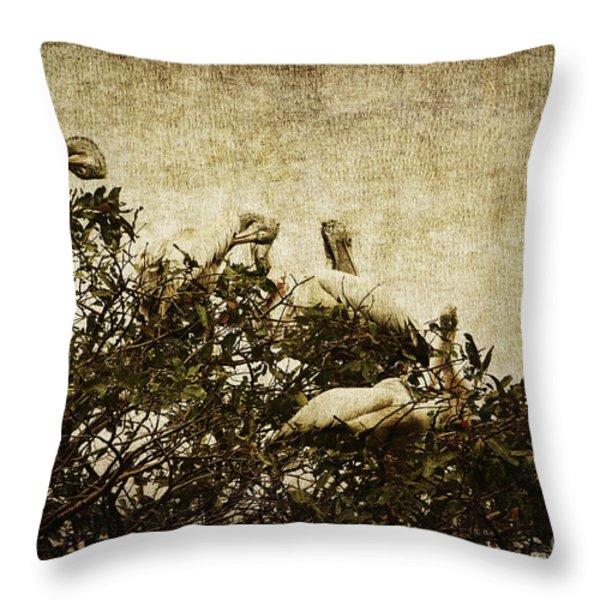 Family Tree Throw Pillow by Andrew Paranavitana