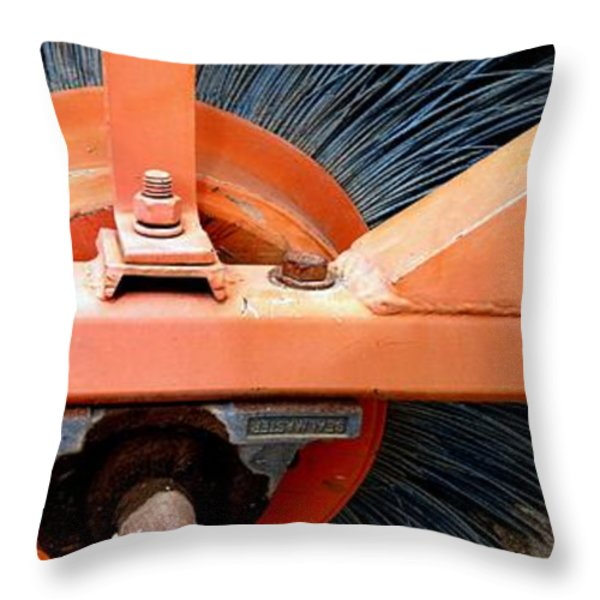 FANCY BRUSHWORK Throw Pillow by Marlene Burns