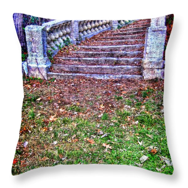 Fantasy Stairway Throw Pillow by Olivier Le Queinec