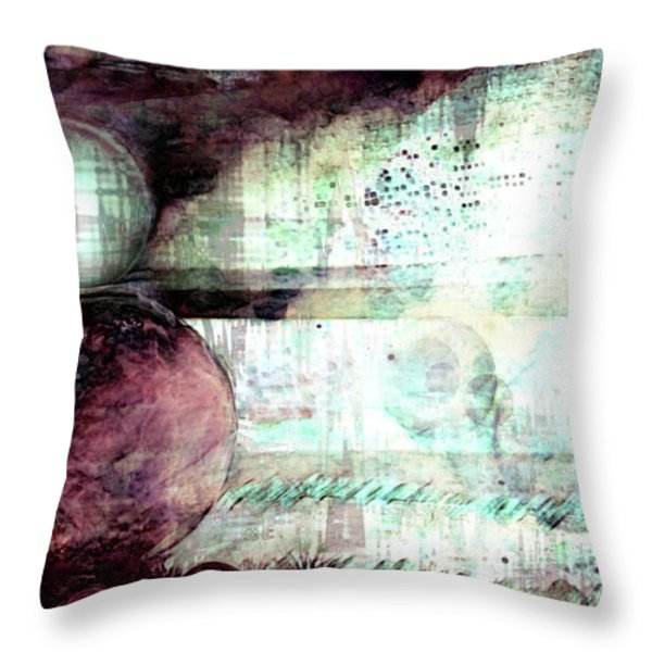 Far Dreaming Throw Pillow by Linda Sannuti