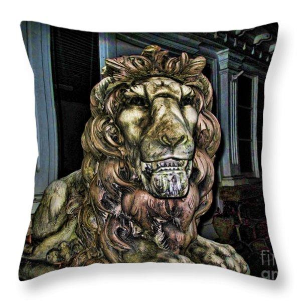 Farnam Manor Haunt Throw Pillow by Joan  Minchak