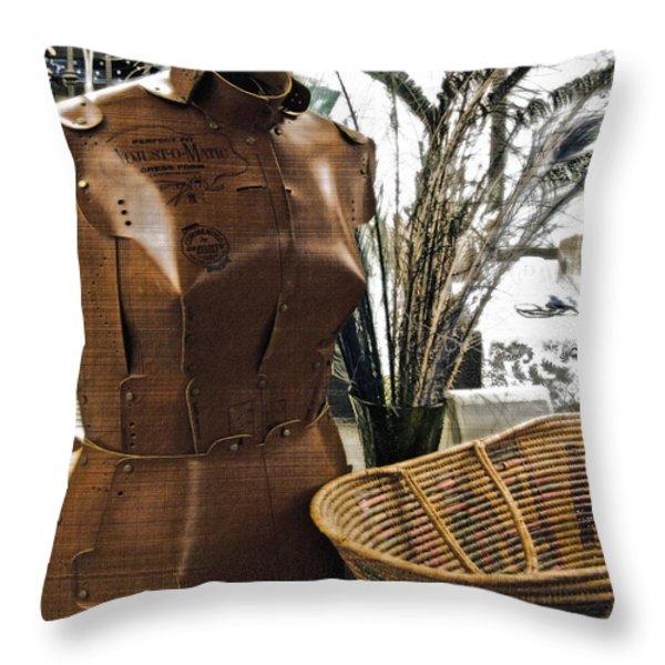 Fashionable Flea Market Throw Pillow by Gwyn Newcombe