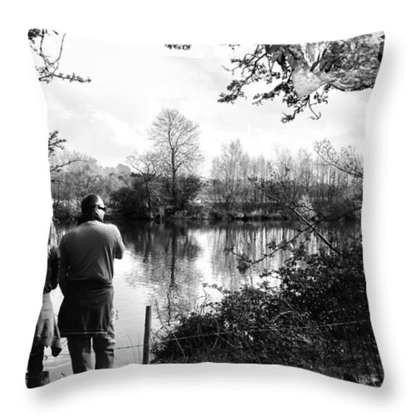 Father and Daughter - River Dee Chester Throw Pillow by Nomad Art And  Design