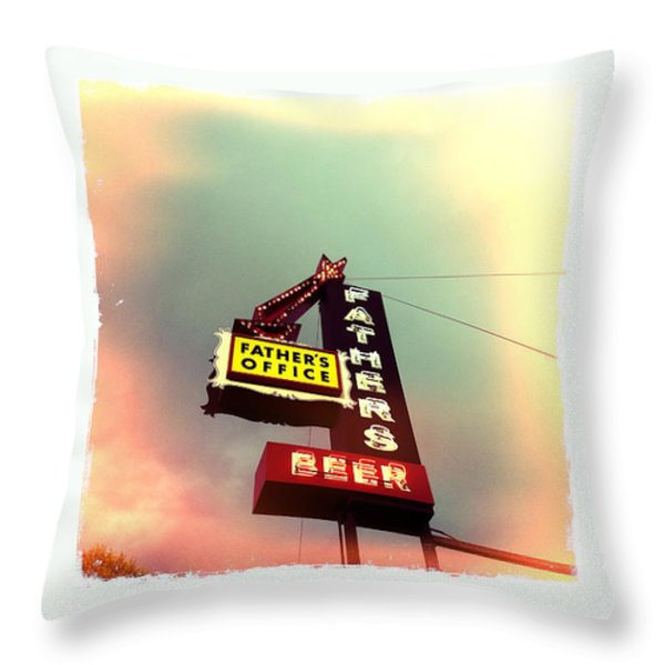 Father's Office Throw Pillow by Nina Prommer