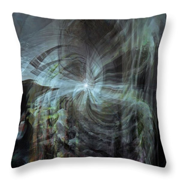 Fear Of The Unknown Throw Pillow by Linda Sannuti