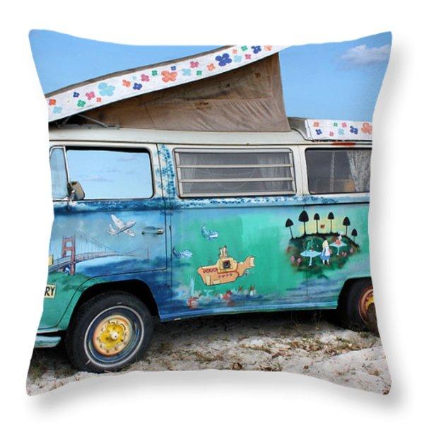 Feelin' Groovy Throw Pillow by Kristin Elmquist
