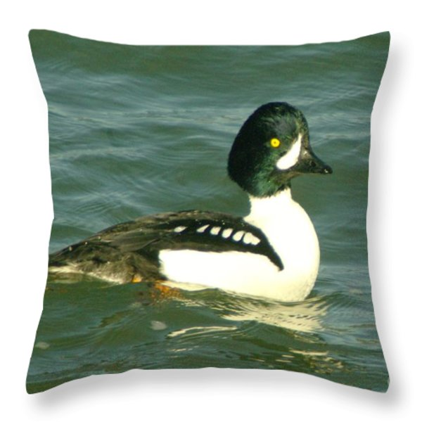 Feeling Ducky  Throw Pillow by Jeff Swan