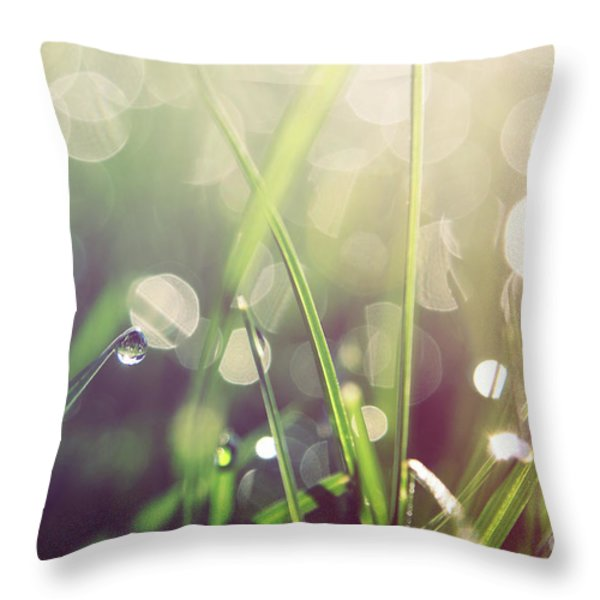 Feeling Good Throw Pillow by Aimelle