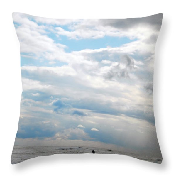 Feeling Small Throw Pillow by Lori Tambakis