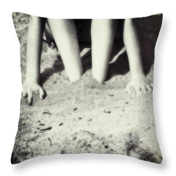 Feet In The Sand Throw Pillow by Joana Kruse