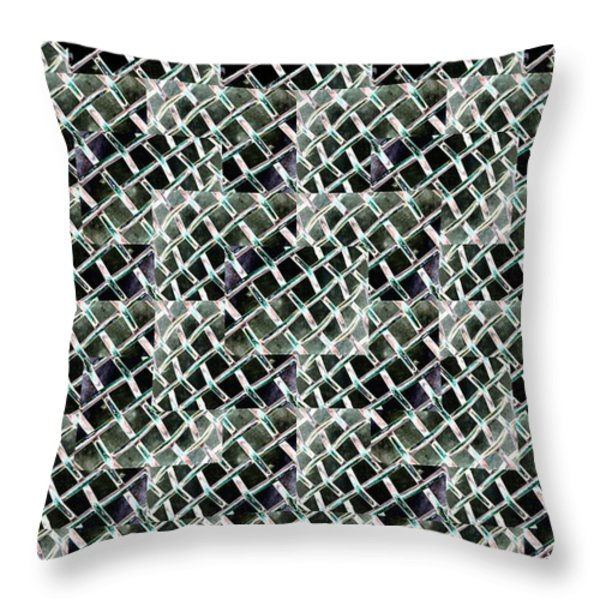 Fenced Throw Pillow by Tim Allen