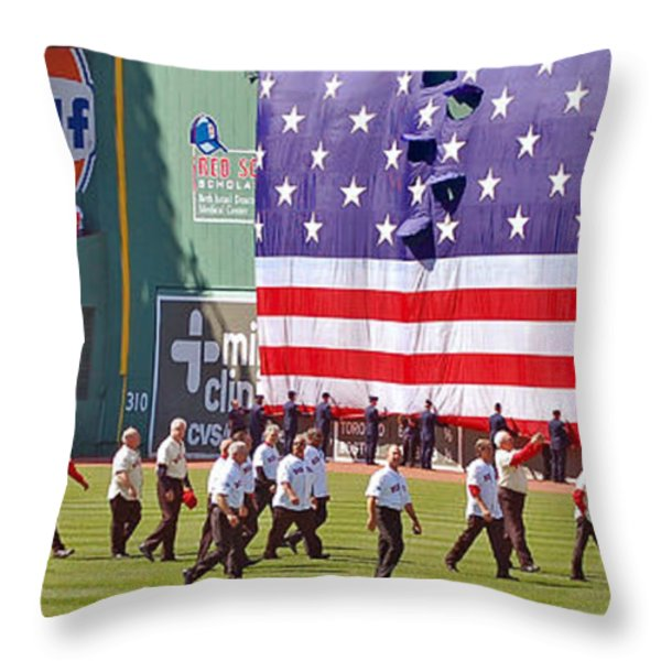 Fenway Park 100th Throw Pillow by Joann Vitali