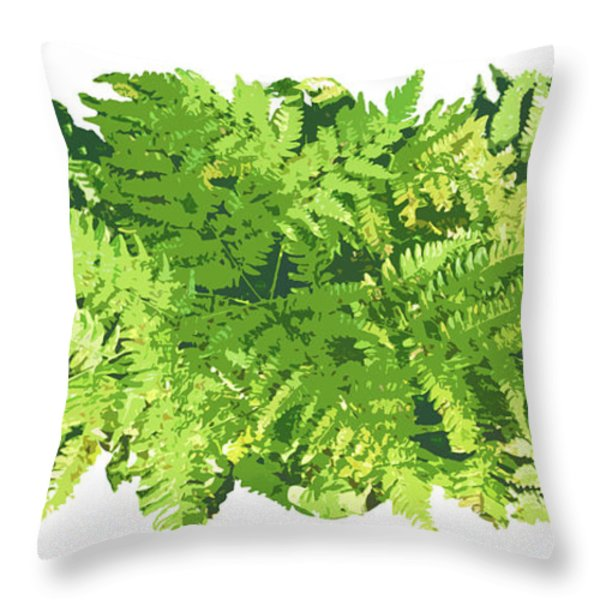 Fern Vignette Throw Pillow by JQ Licensing