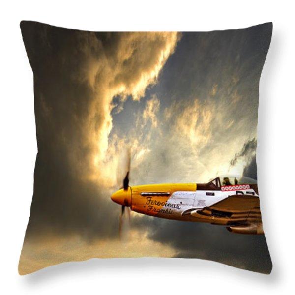 Ferocious Frankie Throw Pillow by Meirion Matthias