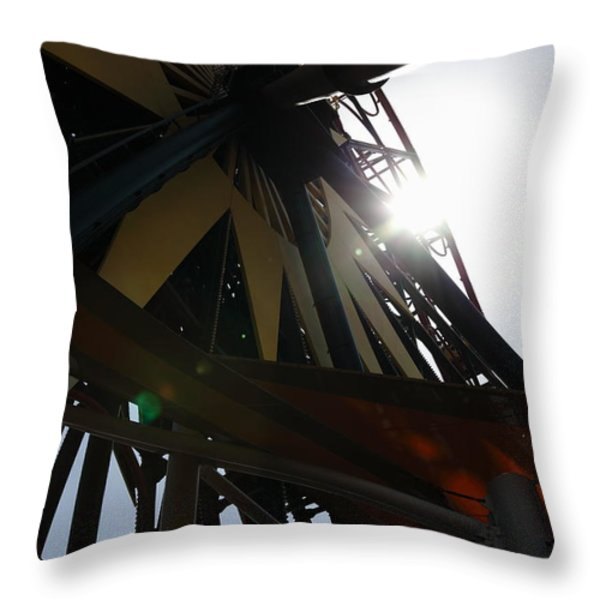 Ferris Wheel - 5D17616 Throw Pillow by Wingsdomain Art and Photography