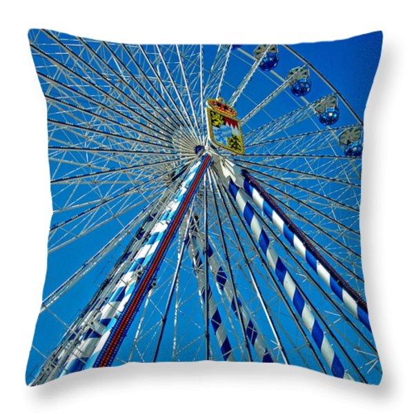 Ferris Wheel - Nuremberg  Throw Pillow by Juergen Weiss