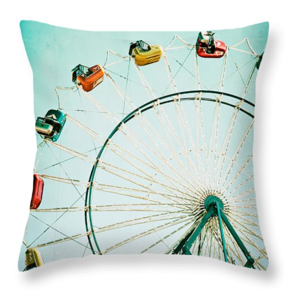 Ferris Wheel 2 Throw Pillow by Kim Fearheiley