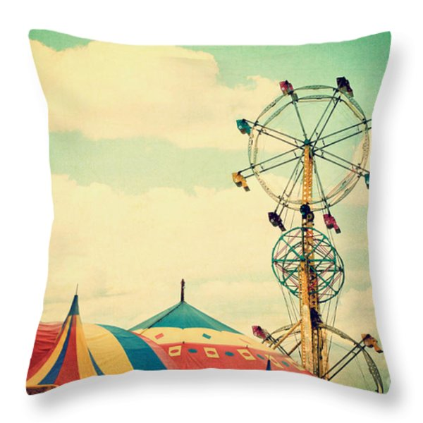 Ferris Wheel Throw Pillow by Kim Fearheiley