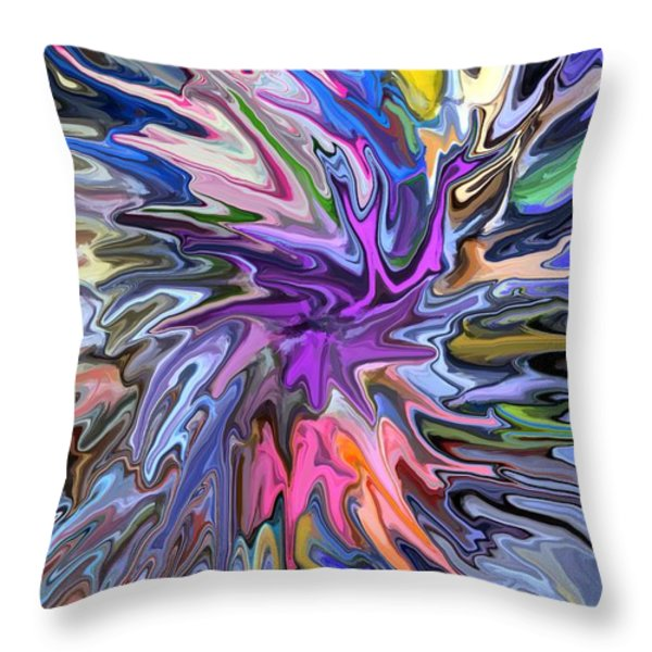 Festival of Flowers II Throw Pillow by Chris Butler
