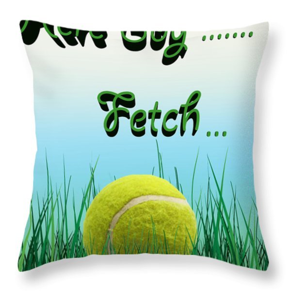 Fetch Throw Pillow by Cheryl Young
