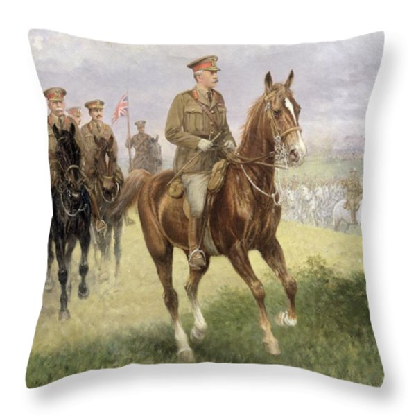 Field Marshal Haig Throw Pillow by Jan van Chelminski