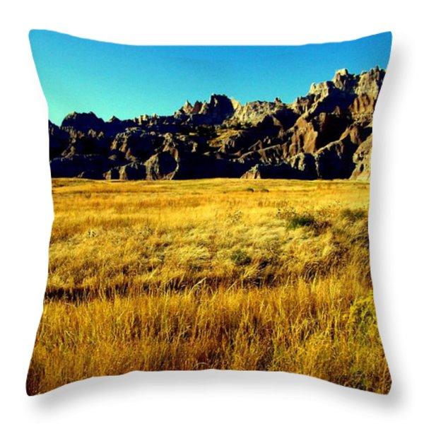 Fields of Gold Throw Pillow by KAREN WILES