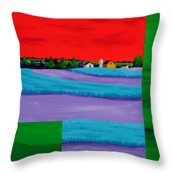 Fields of Green Throw Pillow by Randall Weidner