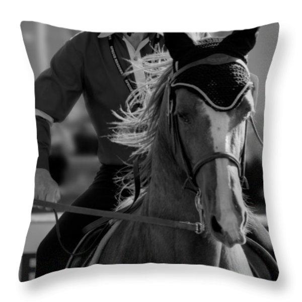 Fierce Focus Throw Pillow by Lisa Knechtel