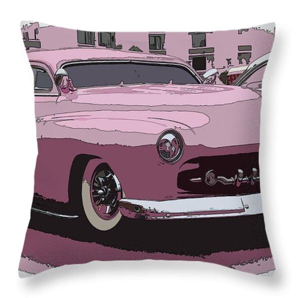 Fiftys Merc Throw Pillow by Steve McKinzie