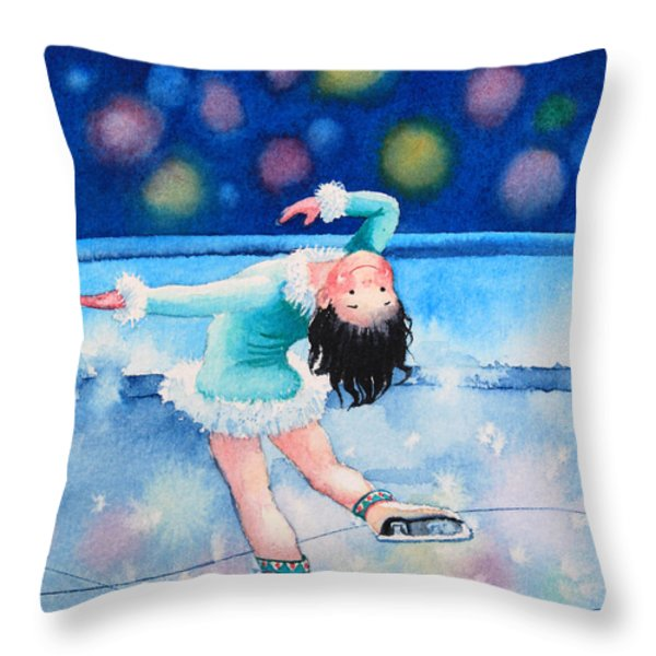 Figure Skater 16 Throw Pillow by Hanne Lore Koehler