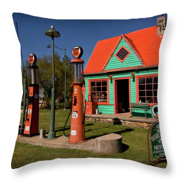 Fill 'er Up Throw Pillow by Patricia Montgomery