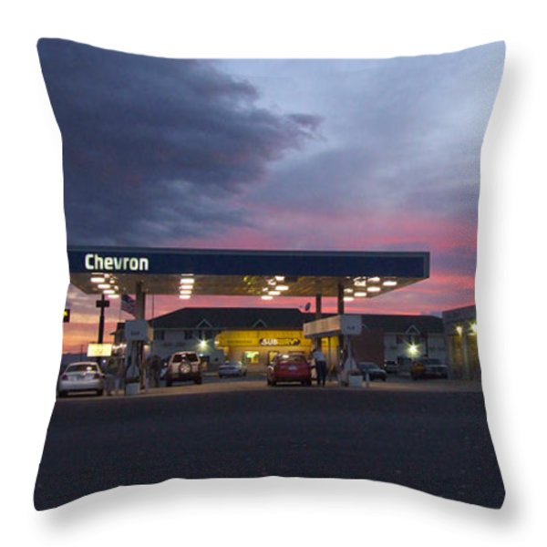 Filler Up Throw Pillow by Mike McGlothlen