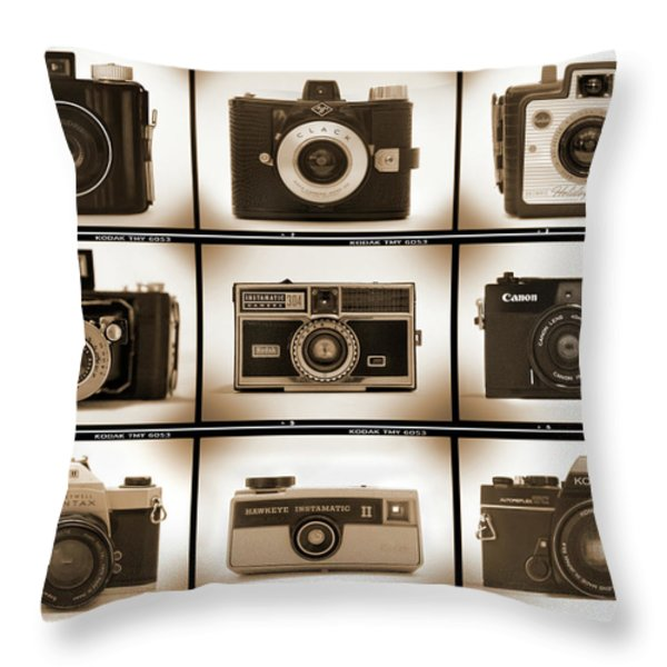 Film Camera Proofs 1 Throw Pillow by Mike McGlothlen