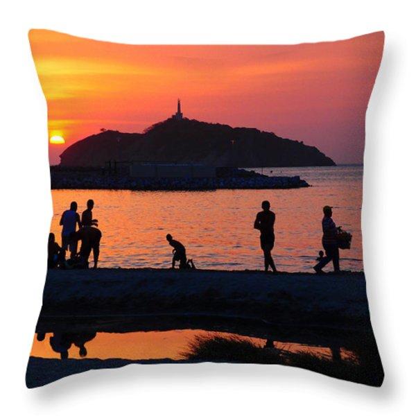 Fin De Semana Throw Pillow by Skip Hunt