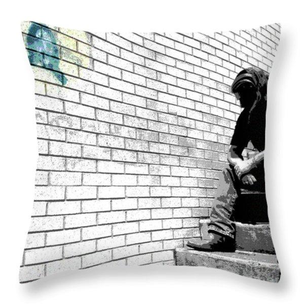 FINDING BOTTOM Throw Pillow by Joe Jake Pratt