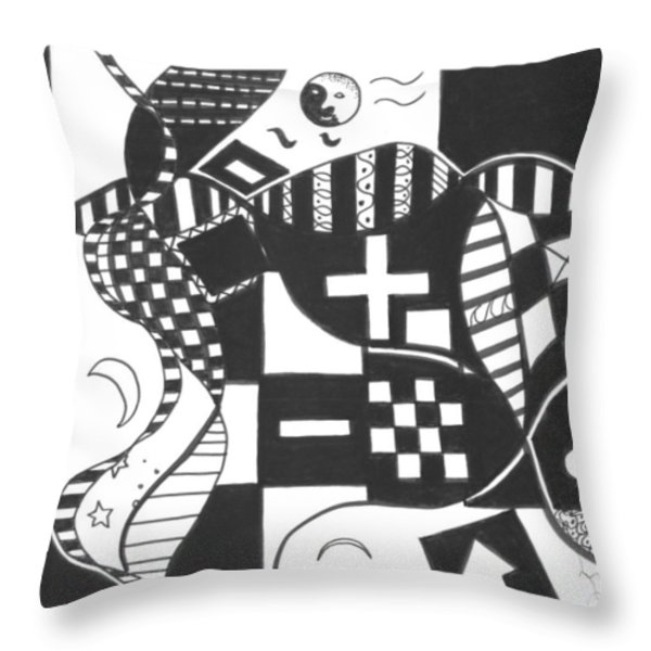 Finding The One Big Plus Throw Pillow by Helena Tiainen