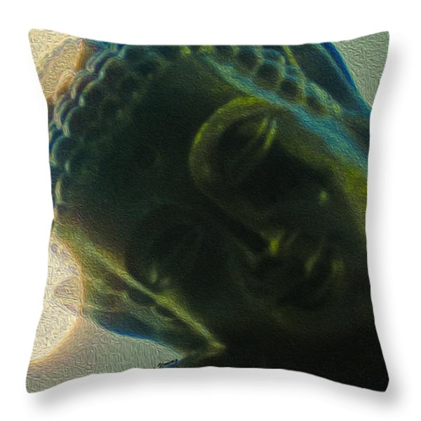 Finding Zen Throw Pillow by Cheryl Young