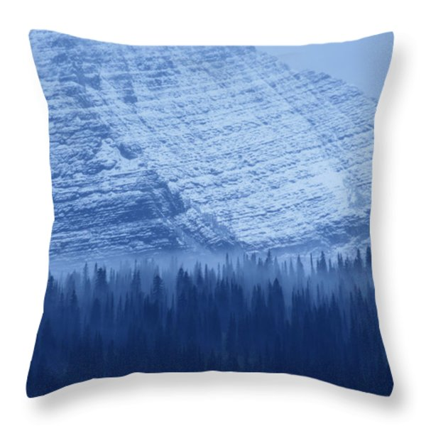 Fir And Spruce Tower Over The Forest Throw Pillow by Michael Melford