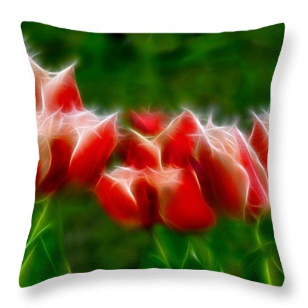 Fire and Ice Fractal  Throw Pillow by Peter Piatt