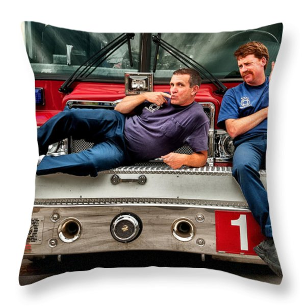 Fire engine one Throw Pillow by Vincent Cascio