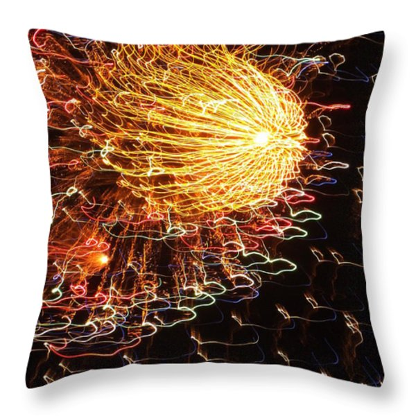 Fire Flower Throw Pillow by KAREN WILES