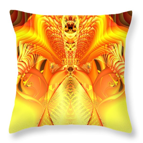 Fire Goddess Throw Pillow by Gina Lee Manley