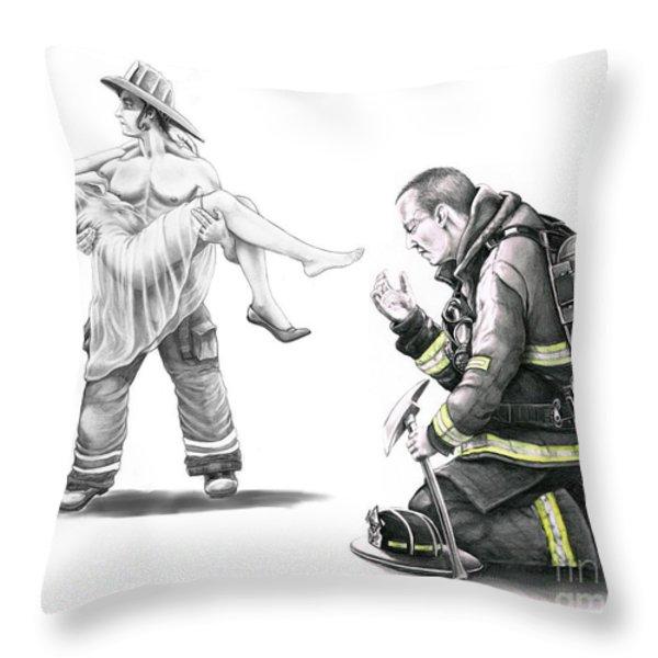 Fire Rescue Throw Pillow by Murphy Elliott