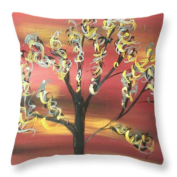 Fire Storm Throw Pillow by Mark Moore