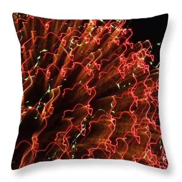 FIREBALL in the SKY Throw Pillow by KAREN WILES