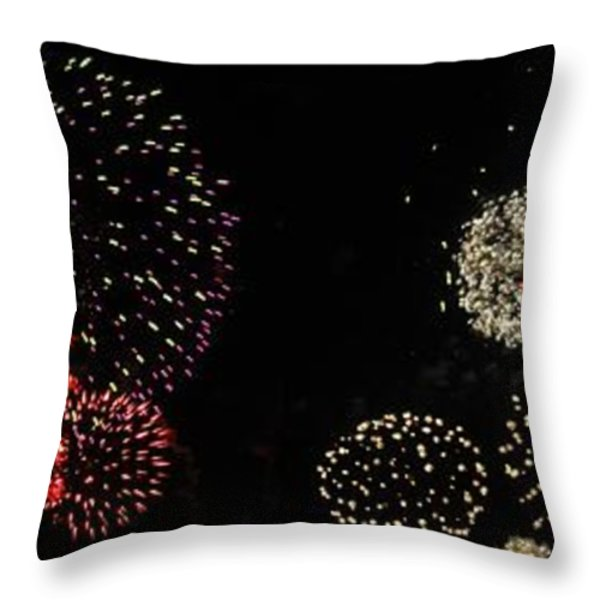 Firework Lifecycle 3 Throw Pillow by Meandering Photography