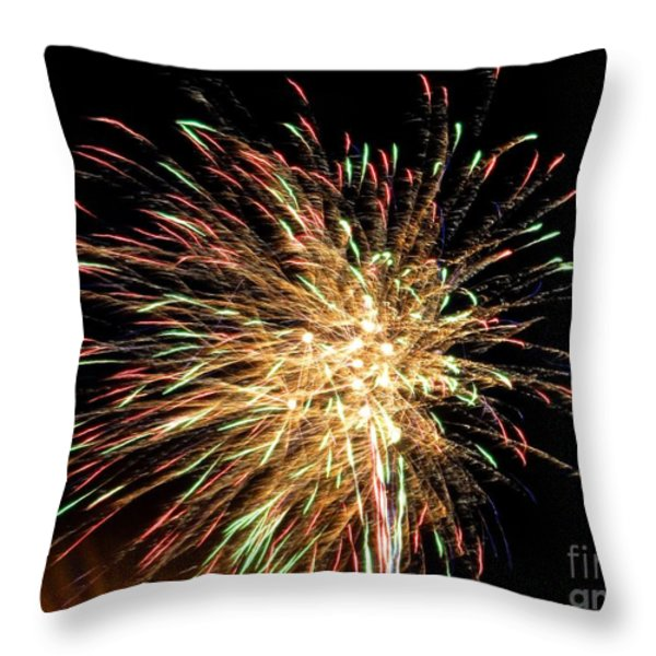 Firework Throw Pillow by Meandering Photography
