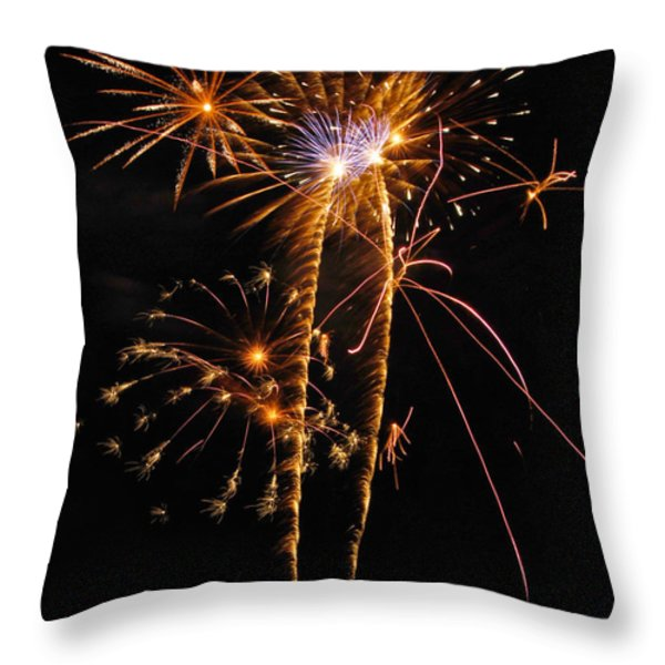 Fireworks 2 Throw Pillow by Michael Peychich